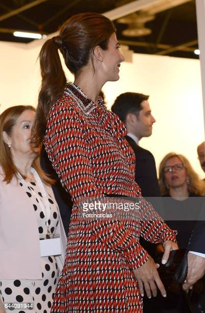 Argentina's First Lady Juliana Awada attends the opening of ARCO 2017 at IFEMA on February 23 2017 in Madrid Spain