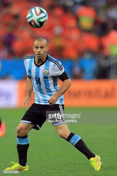 Argentina's Javier Mascherano in action