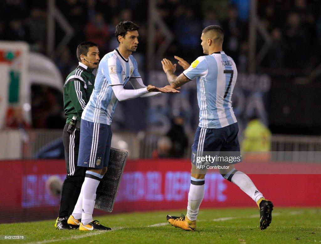 Argentina s Javier Pastore replaces Argentina s Mauro Icardi