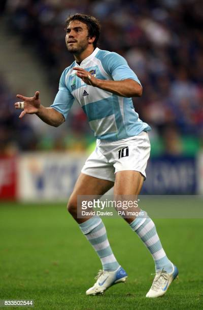 Argentina's Juan Martin Hernandez in action during the Rugby World Cup match at Stade De France Paris France