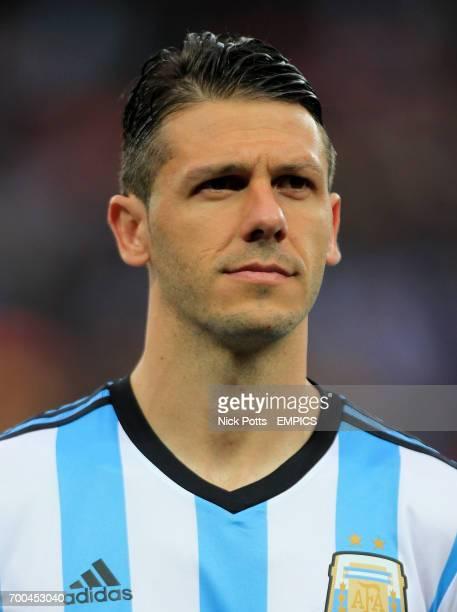 Argentina's Martin Demichelis prior to kick off
