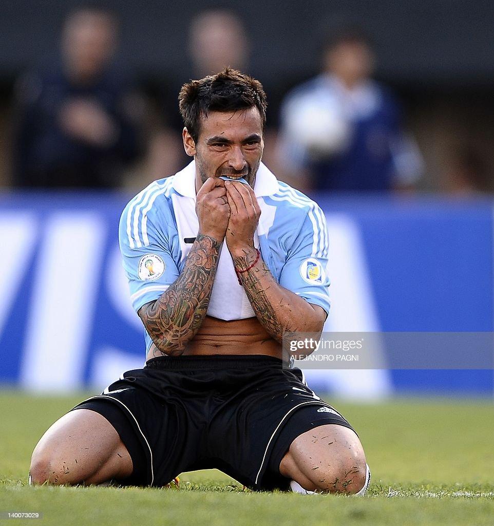 Argentina s midfielder Ezequiel Lavezzi
