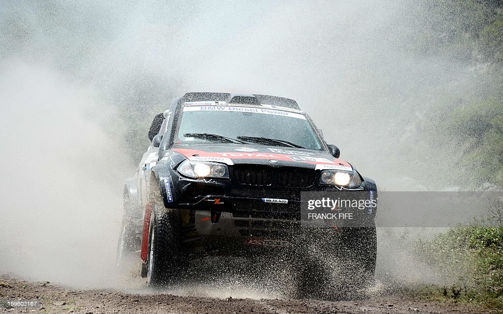 Argentina's Orlando Terranova steers his BMW during the Stage 9 of the Dakar 2013 between Tucuman and Cordoba, Argentina, on January 14, 2013. The rally takes place in Peru, Argentina and Chile from January 5 to 20.