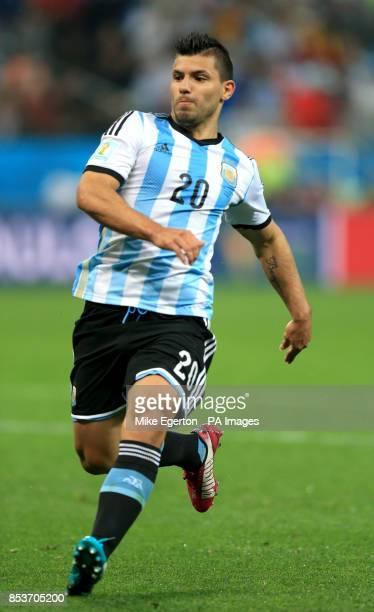 Argentina's Sergio Aguero