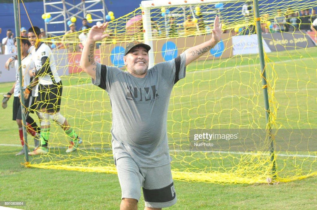 Argentina's soccer legend Diego Maradona in Kadambagachi village