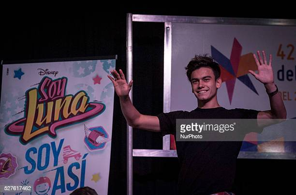 Argentine actor Agust��n Bernasconi is presented in the press conference at the Book Fair on May 2 2016 in Buenos Aires Argentina