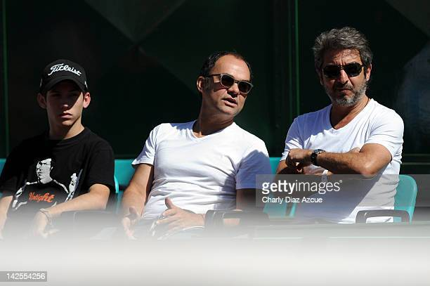 Argentine actor Ricardo Darin during the match between Argentina and Croatia for the quarterfinals of the Davis Cup at Mary Teran de Weiss stadium on...