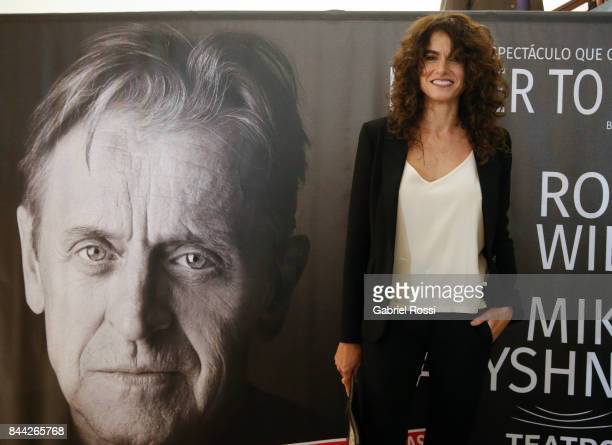 Argentine actress Florencia Raggi poses for a photo during the Opening Night of the play 'Letter to a Man' at Teatro Coliseo on September 7 2017 in...