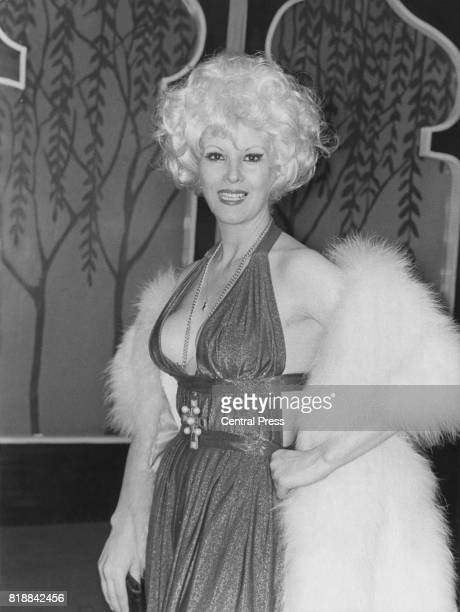Argentine actress Libertad Leblanc promotes her latest film in Madrid Spain circa 1972