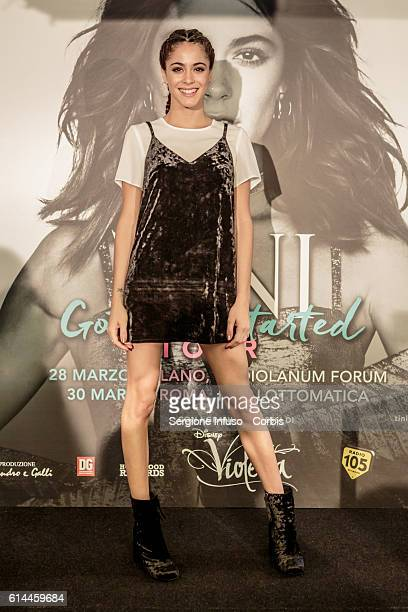Argentine actress model singer and dancer Tini born Martina Stoessel presents 'Got Me Started' Tour In Milan on October 12 2016 in Milan Italy