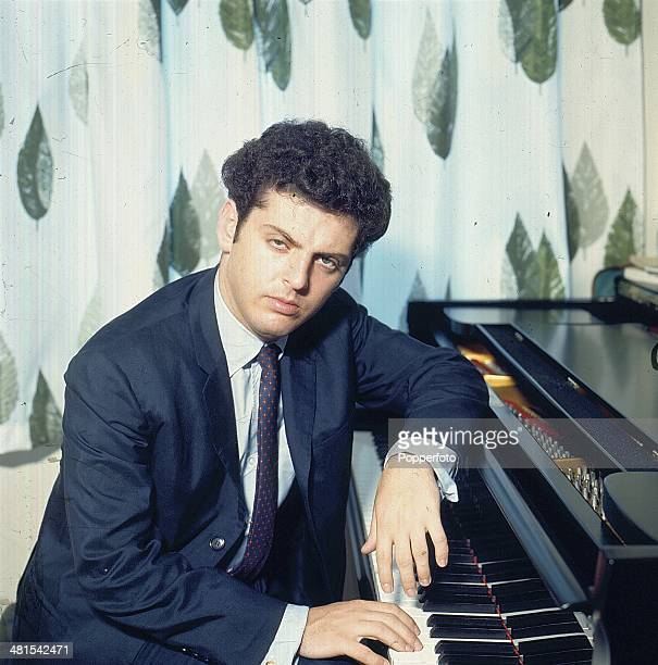 1968 Argentine born pianist and conductor Daniel Barenboim posed at a piano in 1968