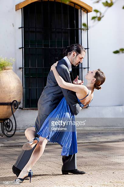 Argentine couple dancing tango in Buenos Aires