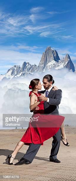 couple dansant le tango argentin en Patagonie