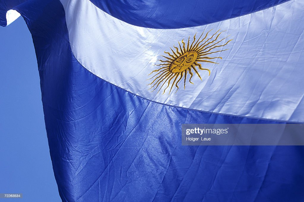Argentine flag, Plaza de Mayo, Buenos Aires, Argentina : Stock Photo