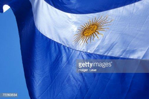 Argentine flag, Plaza de Mayo, Buenos Aires, Argentina : Foto de stock