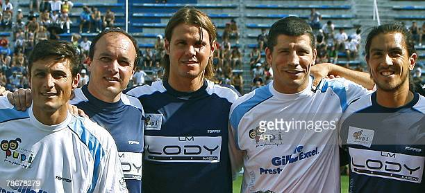 Argentine football player Javier Zanetti former players Abel Balbo and Fernando Redondo Los Pumas' player Manuel Contepomi and tennis player...