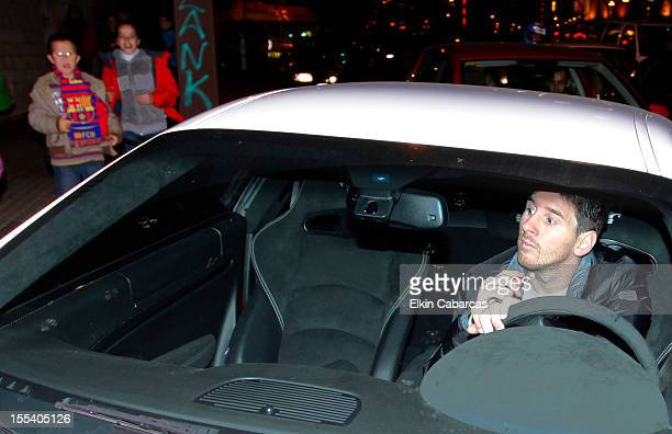 Argentine football player Lionel Messi arrive for second day to the Hospital USP Dexeus to spend the night with her newborn son Thiago Messi...