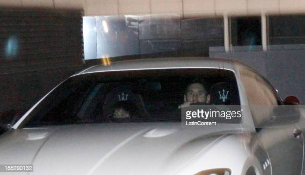 Argentine football player Lionel Messi leaves the Hospital USP Dexeus after his first son Thiago Messi Roccuzzo was borned on November 02 2012 in...