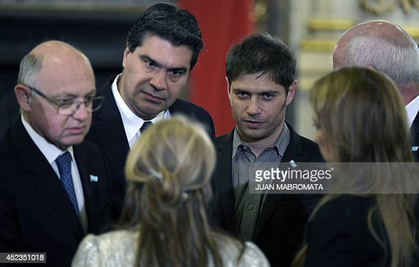 Argentine Foreign Minister Hector Timerman Chief of Cabinet Jorge Capitanich Argentine Social Development Minister Alicia Kirchner Argentine Economy...