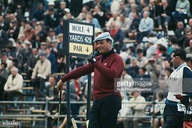 Argentine golfer Roberto De Vicenzo pictured in action on the fourth tee at the 1968 Open Championship at Carnoustie Golf Links in Scotland in July...