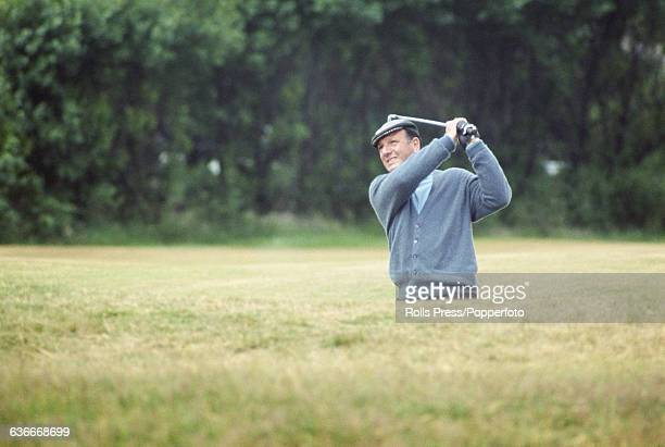 Argentine golfer Roberto De Vicenzo pictured on the 3rd fairway during play at the 1969 Open Championship at Royal Lytham St Annes Golf Club in...