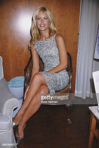 Argentine model Valeria Mazza at the launch of her new fragrance 'Valeria' New York City USA 1998