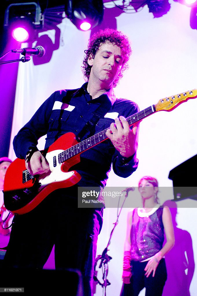 Argentine musician Gustavo Cerati performs in Chicago, Illinois, July 29, 2003.