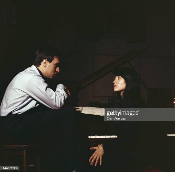 Argentine pianist Martha Argerich with Italian conductor Claudio Abbado 1968