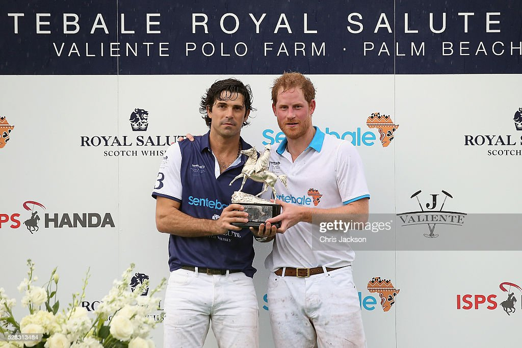 Argentine player <a gi-track='captionPersonalityLinkClicked' href=/galleries/search?phrase=Nacho+Figueras&family=editorial&specificpeople=2308997 ng-click='$event.stopPropagation()'>Nacho Figueras</a> (L) and <a gi-track='captionPersonalityLinkClicked' href=/galleries/search?phrase=Prince+Harry&family=editorial&specificpeople=178173 ng-click='$event.stopPropagation()'>Prince Harry</a> pose after competing during the Sentebale Royal Salute Polo Cup in Palm Beach with <a gi-track='captionPersonalityLinkClicked' href=/galleries/search?phrase=Prince+Harry&family=editorial&specificpeople=178173 ng-click='$event.stopPropagation()'>Prince Harry</a> at Valiente Polo Farm on May 4, 2016 in Palm Beach, United. The event will raise money for <a gi-track='captionPersonalityLinkClicked' href=/galleries/search?phrase=Prince+Harry&family=editorial&specificpeople=178173 ng-click='$event.stopPropagation()'>Prince Harry</a>'s charity Sentebale, which supports vulnerable children and young people living with HIV in Lesotho in southern Africa.