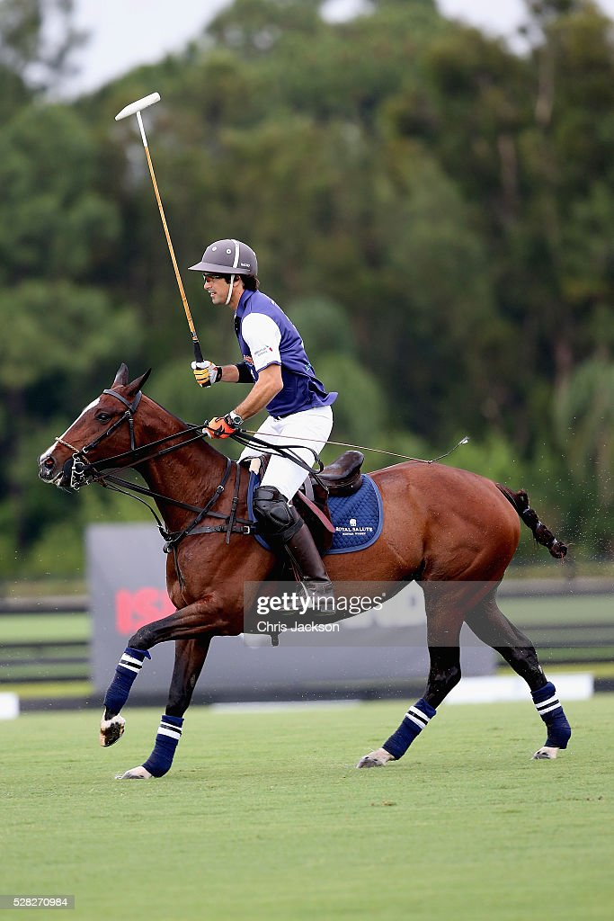 Argentine player <a gi-track='captionPersonalityLinkClicked' href=/galleries/search?phrase=Nacho+Figueras&family=editorial&specificpeople=2308997 ng-click='$event.stopPropagation()'>Nacho Figueras</a> competes during the Sentebale Royal Salute Polo Cup in Palm Beach with Prince Harry at Valiente Polo Farm on May 4, 2016 in Palm Beach, United. The event will raise money for Prince Harry's charity Sentebale, which supports vulnerable children and young people living with HIV in Lesotho in southern Africa.