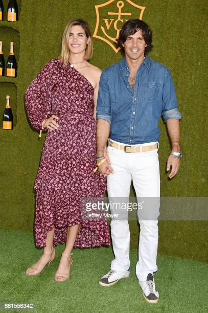 Argentine polo player Nacho Figueras and model/photographer Delfina Blaquier attend the 8th Annual Veuve Clicquot Polo Classic at Will Rogers State...
