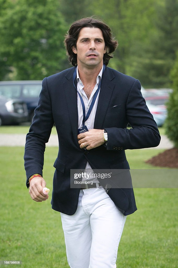 Argentine polo player <a gi-track='captionPersonalityLinkClicked' href=/galleries/search?phrase=Nacho+Figueras&family=editorial&specificpeople=2308997 ng-click='$event.stopPropagation()'>Nacho Figueras</a> arrives during the Sentebale Royal Salute Polo Cup at the Greenwich Polo Club in Greenwich, Connecticut, U.S., on Wednesday, May 15, 2013. Prince Harry of Wales' visit is part of a week-long U.S. tour that also includes stops in Washington, Colorado and New York. Photographer: Scott Eells/Bloomberg via Getty Images