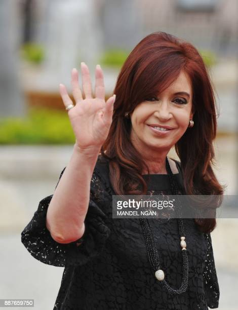 Argentine President Cristina Fernandez de Kirchner arrives at the Julio Cesar Turbay Ayala Convention Center in the framework of the 2012 Summit of...