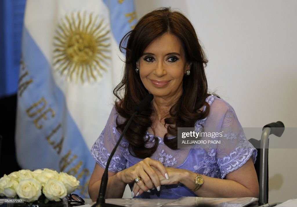 Argentine President Cristina Kirchner gestures during a ceremony with provincial governors, in Buenos Aires, on January 30, 2015. President Cristina Kirchner on Monday said that she will disband Argentina's intelligence service after a prosecutor was found dead just hours before he was to make explosive allegations against her.