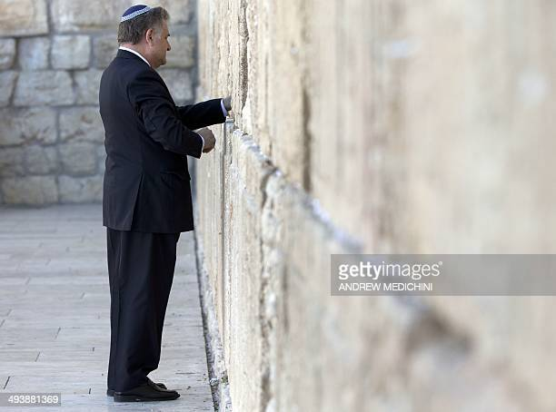 Argentine Rabbi Abraham Skorka prays at the Western Wall Judaism's holiest site in Jerusalem's Old City on May 26 2014 The 77yearold pontiff faces a...