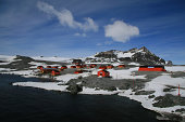 The argentine resercah station on the Antarctic mainland