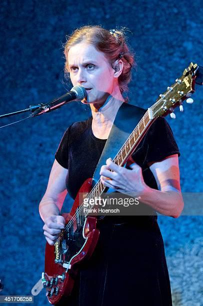 Argentine singer Juana Molina performs live during a concert at the Haus der Berliner Festspiele on July 4 2014 in Berlin Germany