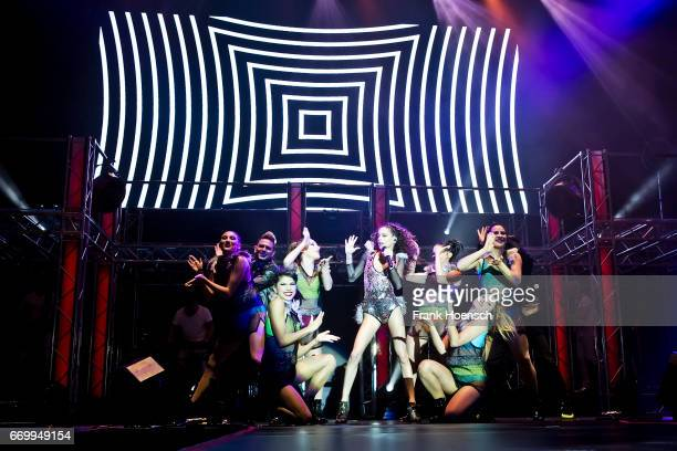 Argentine singer Martina Stoessel aka Tini performs live during a concert at the MercedesBenz Arena on April 18 2017 in Berlin Germany