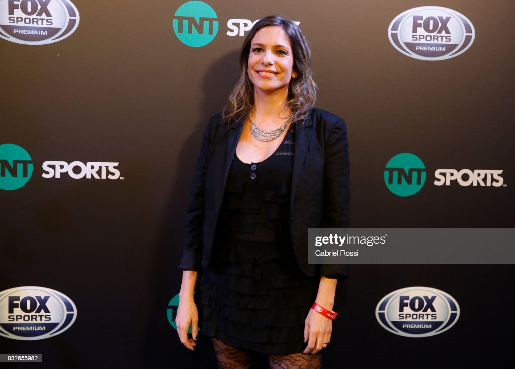 Argentine sports journalist Angela Lerena during AFA's Superliga Official Launch at Hilton Hotel on August 15, 2017 in Buenos Aires, Argentina.