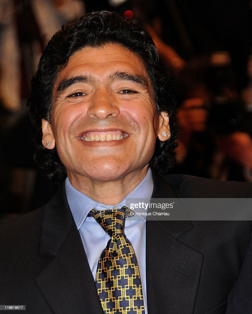 Argentinean football legend Diego Armando Maradona attends the 'Maradona' premiere at the Palais des Festivals during the 61st Cannes International Film Festival on May 20, 2008 in Cannes, France.