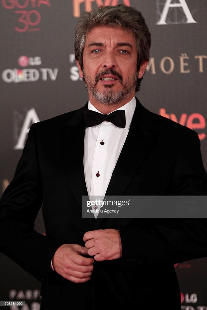 Argentinian actor and film director Ricardo Darin poses on the red carpet as he attends Goya Cinema Awards 2016 at Madrid Marriott Auditorium in Madrid, Spain on February 6, 2016.