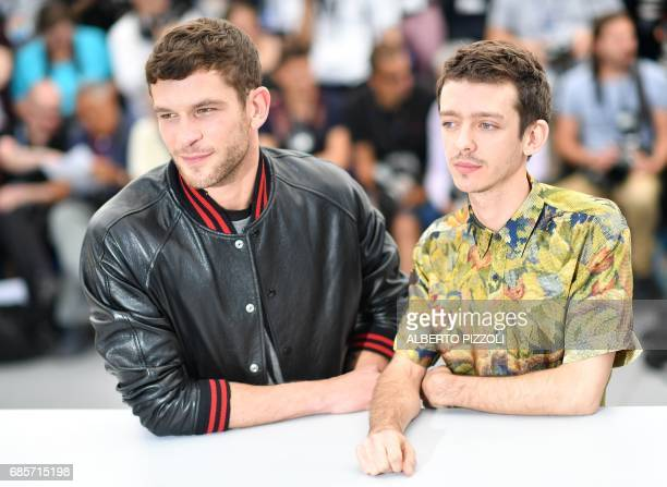Argentinian actor Nahuel Perez Biscayart and French actor Arnaud Valois pose on May 20 2017 during a photocall for the film '120 Beats Per Minute '...