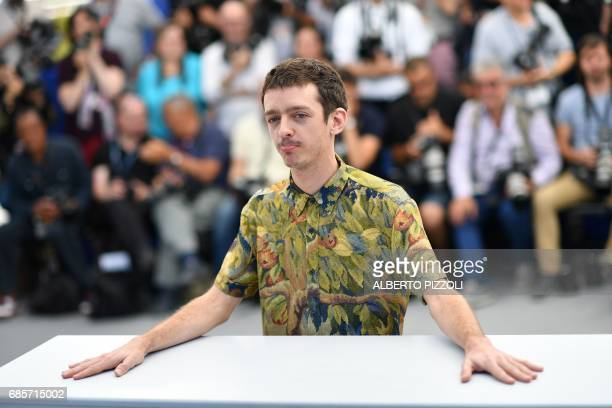 Argentinian actor Nahuel Perez Biscayart poses on May 20 2017 during a photocall for the film '120 Beats Per Minute ' at the 70th edition of the...