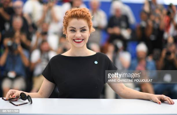 Argentinian actress Dolores Fonzi smiles on May 24 2017 during a photocall for the film 'La Cordillera El Presidente' at the 70th edition of the...