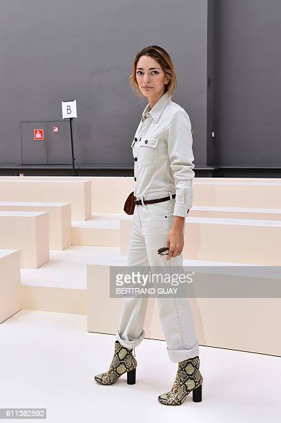 Argentinian art director and fashion consultant Sofia Sanchez de Betak arrives for the 2017 Spring/Summer readytowear collection fashion show by...