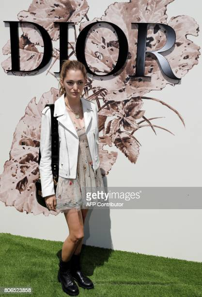 Argentinian art director and fashion consultant Sofia Sanchez de Betak poses during the photocall before Christian Dior 2017 fall/winter Haute...