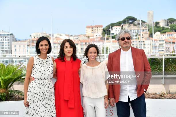 Argentinian director Valeria Pivato Chilean actress Paulina Garcia Argentinian actress Cecilia Atan and Argentinian actor Claudio Rissi pose on May...