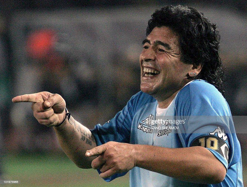 Argentinian football star Diego Maradona