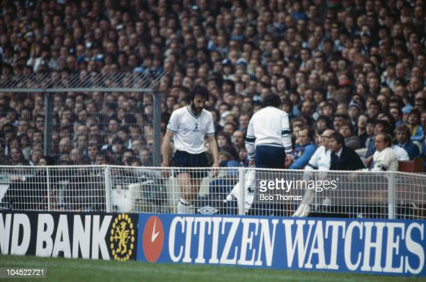 Argentinian footballer Ricardo Villa of Tottenham Hotspur is despondent as he is substituted in the 68th minute of the FA Cup final against...