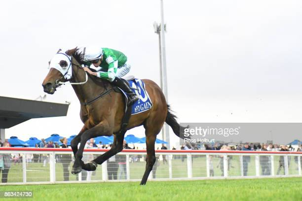 Argentinian Gold ridden by Michael Dee wins the 9 Mile 'Apple Dessert' 3YO Maiden Plate at Racingcom Park Racecourse on October 20 2017 in Pakenham...